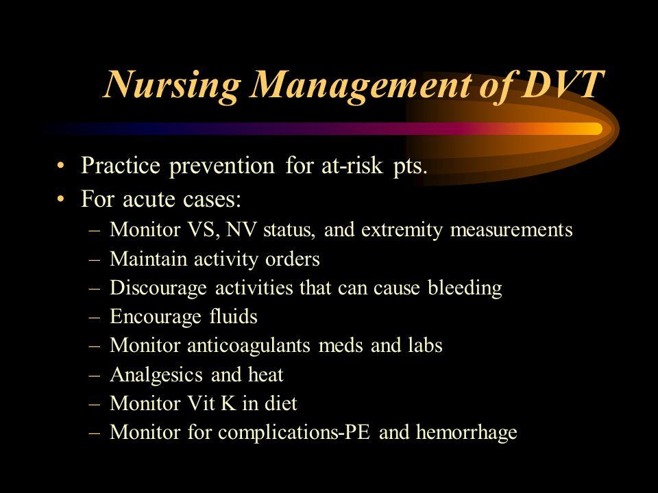 Nursing Management of DVT