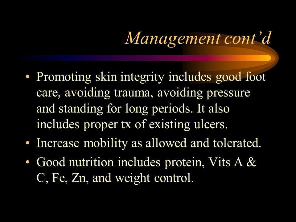 Management cont'd