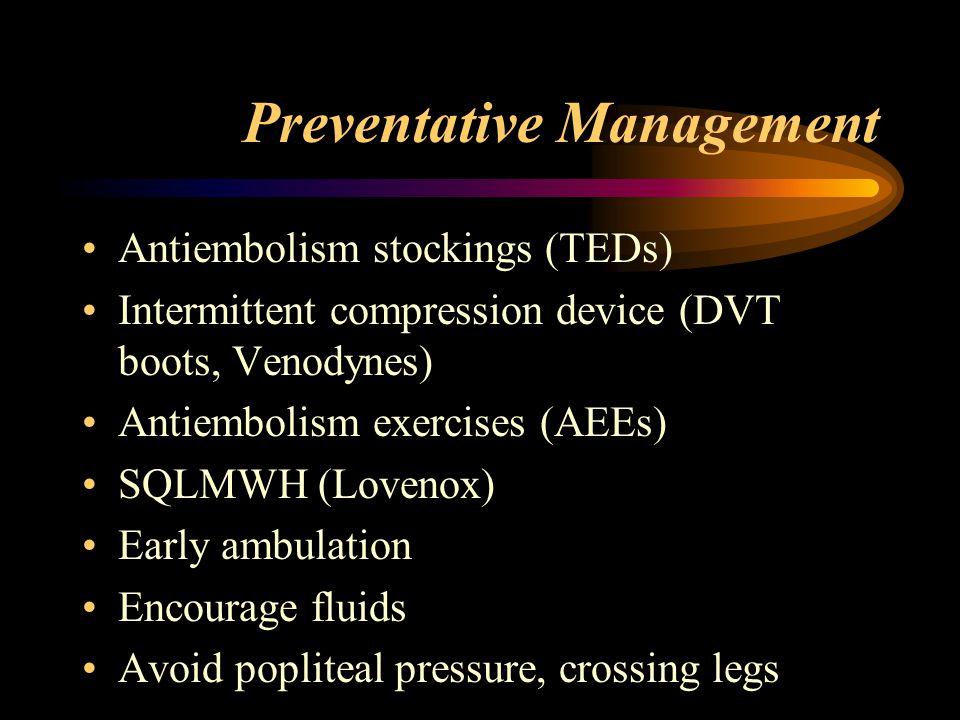 Preventative Management