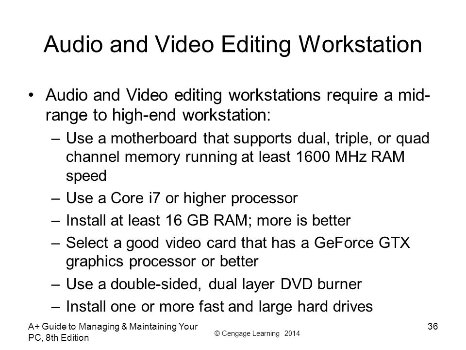 Audio and Video Editing Workstation