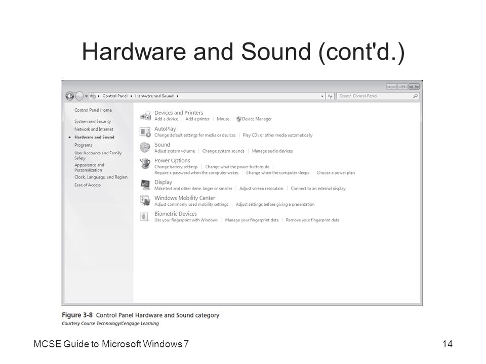 Hardware and Sound (cont d.)