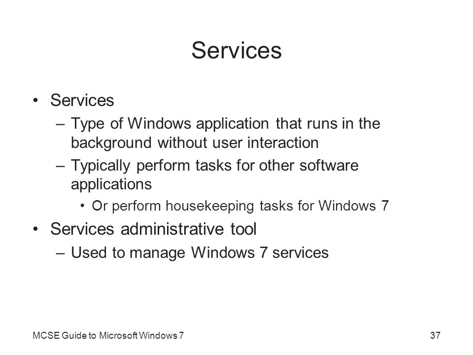 Services Services Services administrative tool