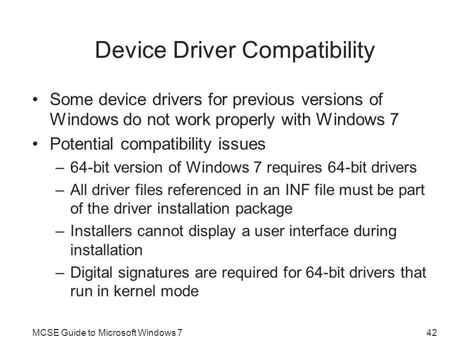 Device Driver Compatibility