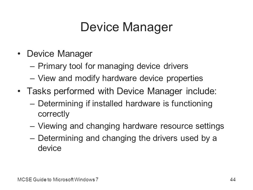 Device Manager Device Manager
