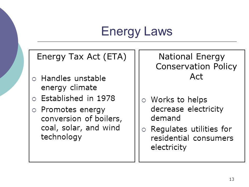 National Energy Conservation Policy Act