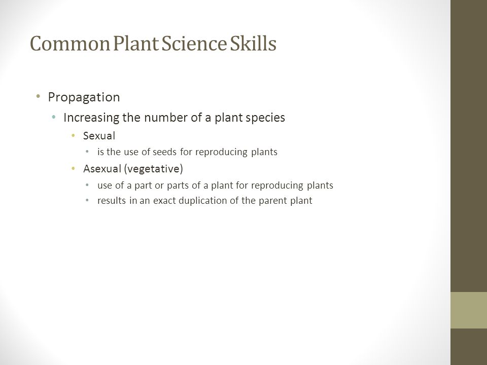 Common Plant Science Skills