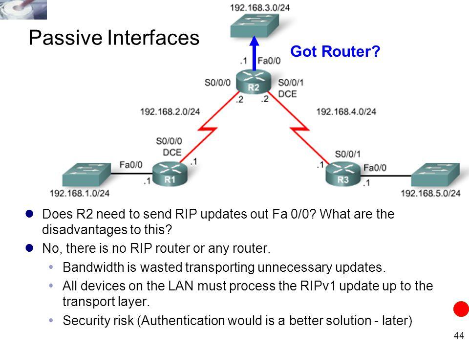 Passive Interfaces Got Router