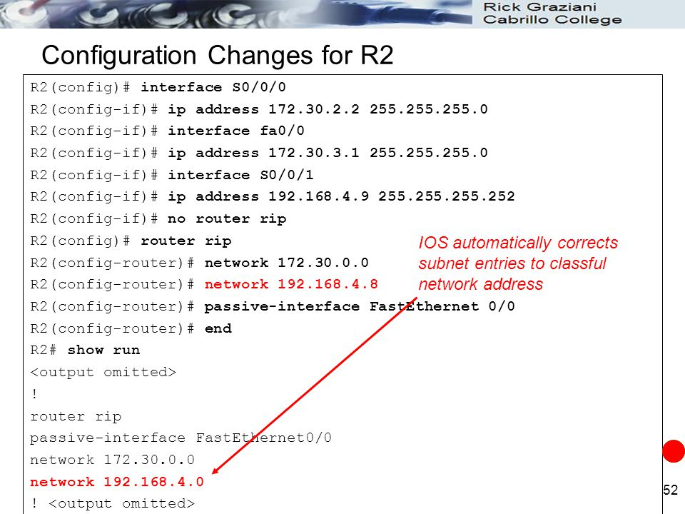 Configuration Changes for R2