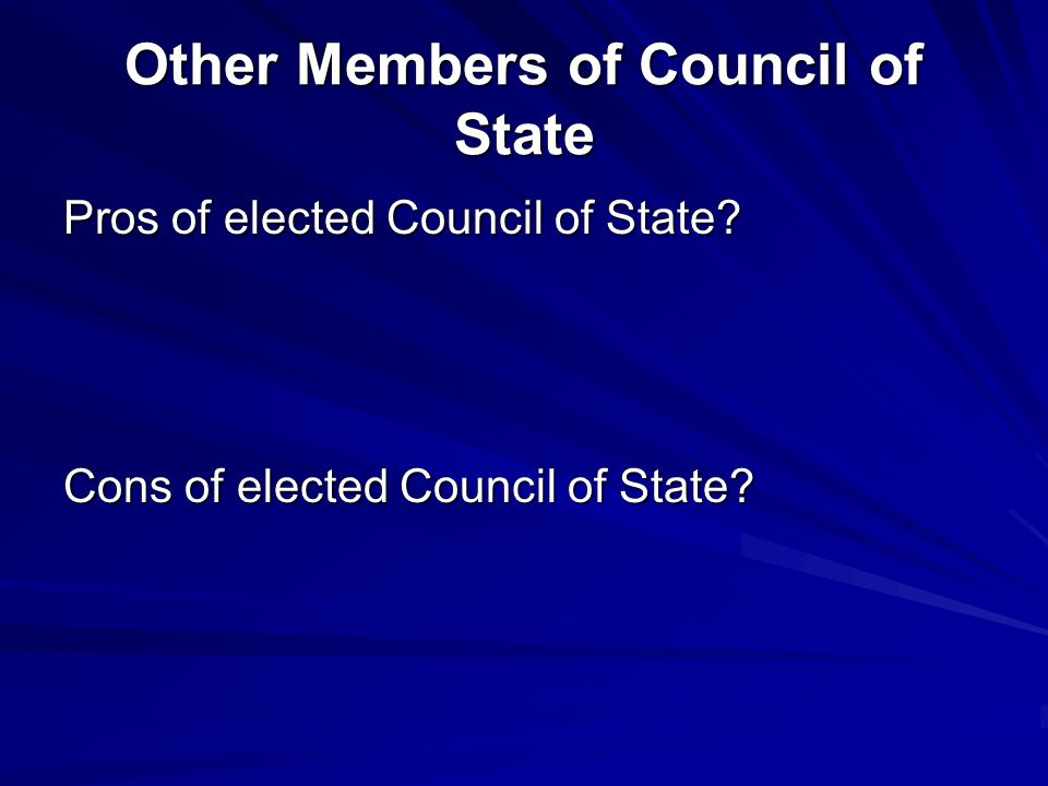 Other Members of Council of State