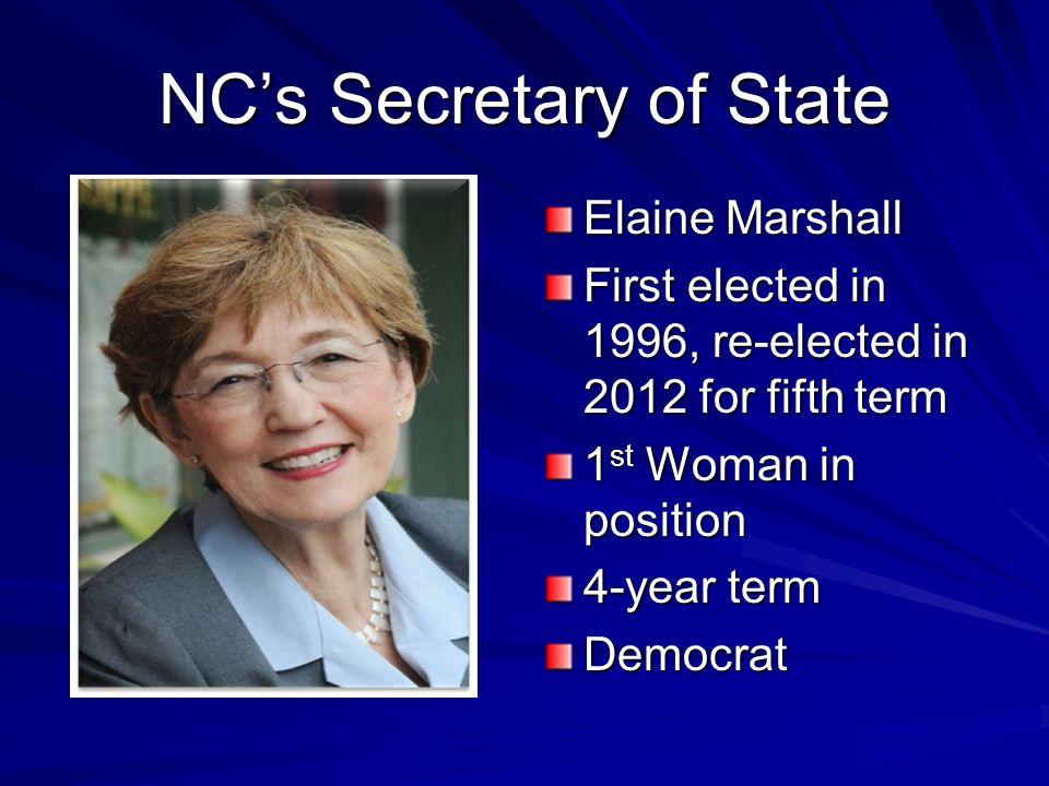 NC's Secretary of State