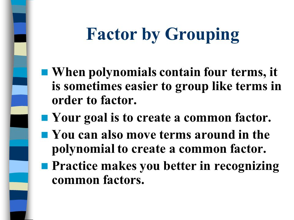 Factoring polynomials ppt download 2 factor ccuart Gallery