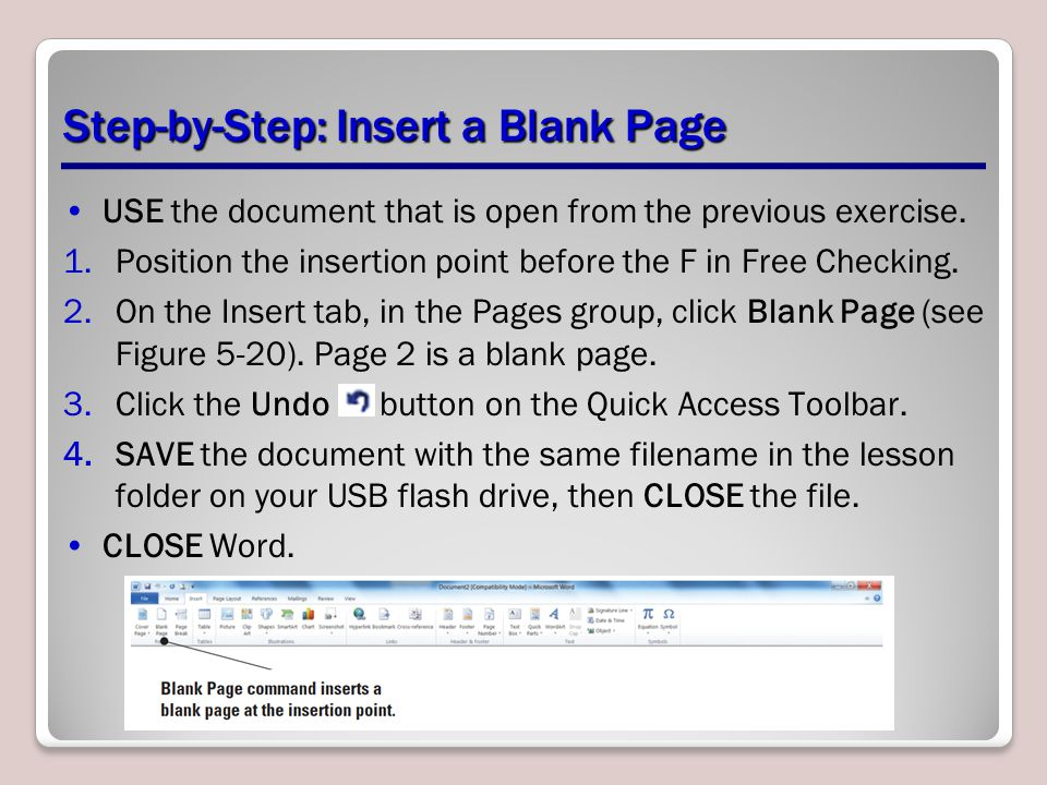 Step-by-Step: Insert a Blank Page