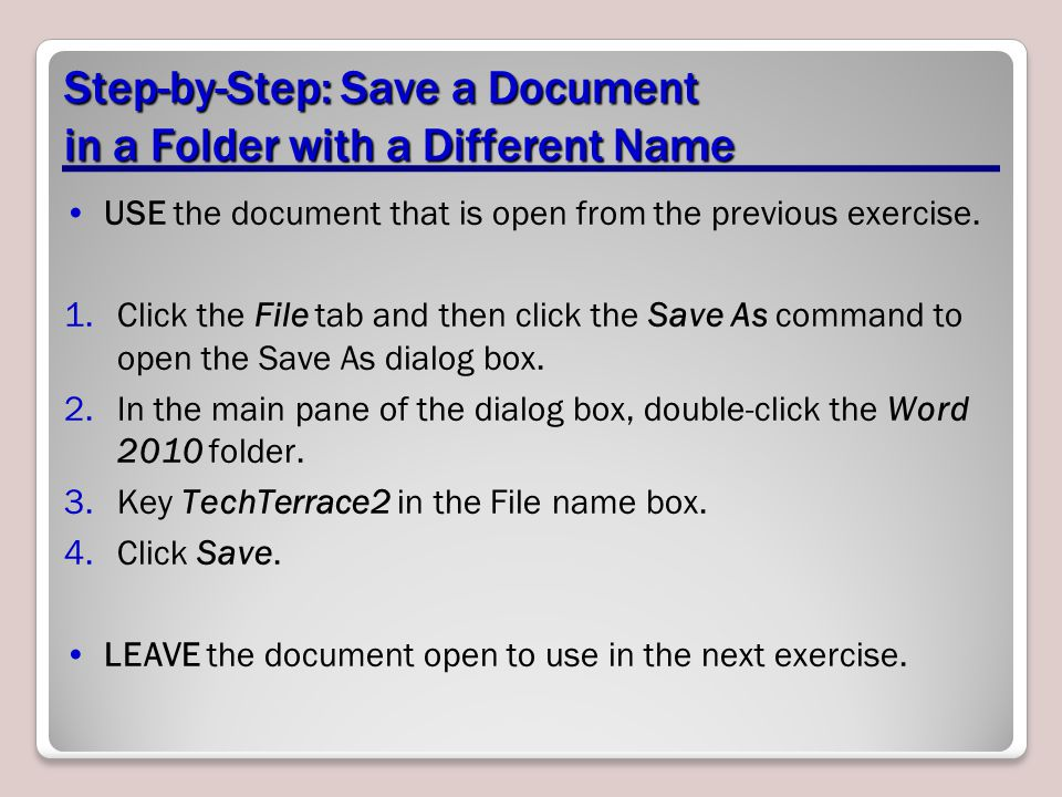 Step-by-Step: Save a Document in a Folder with a Different Name