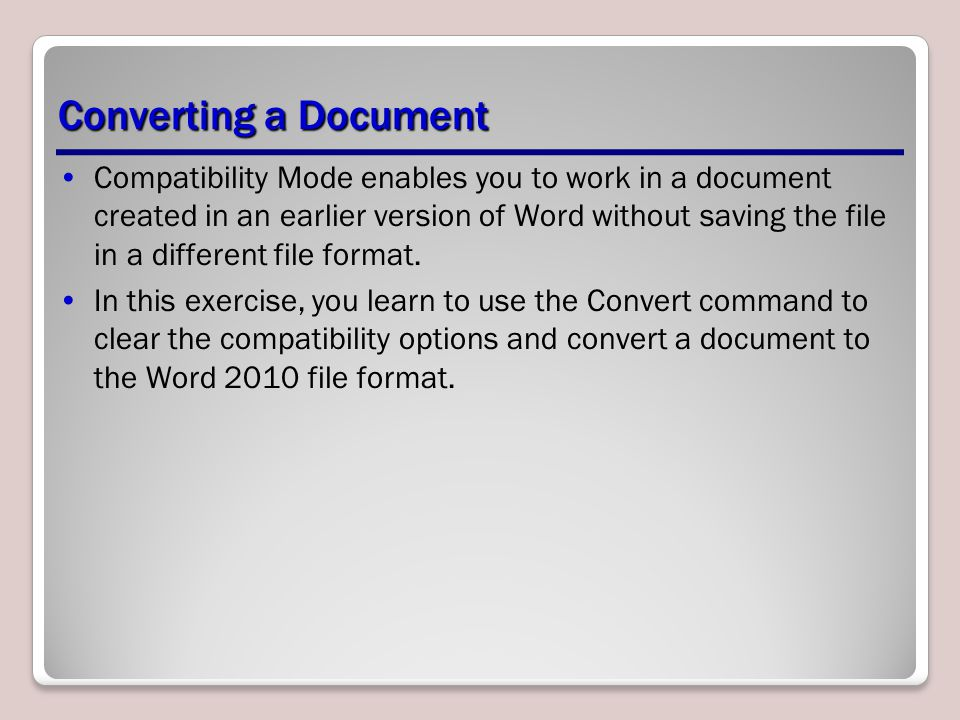 Converting a Document