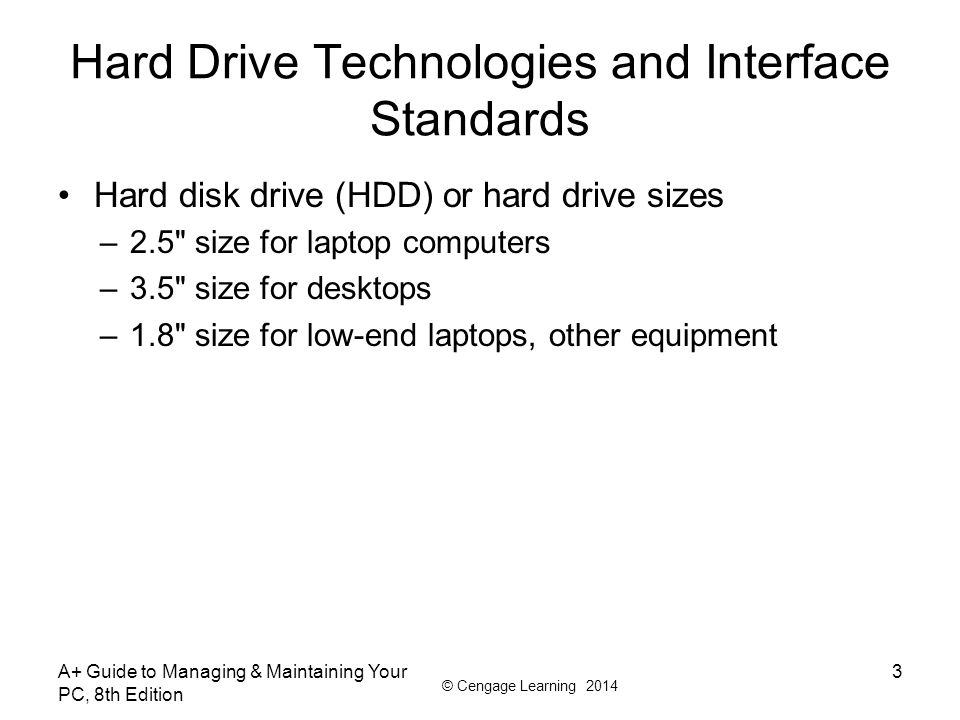 Hard Drive Technologies and Interface Standards