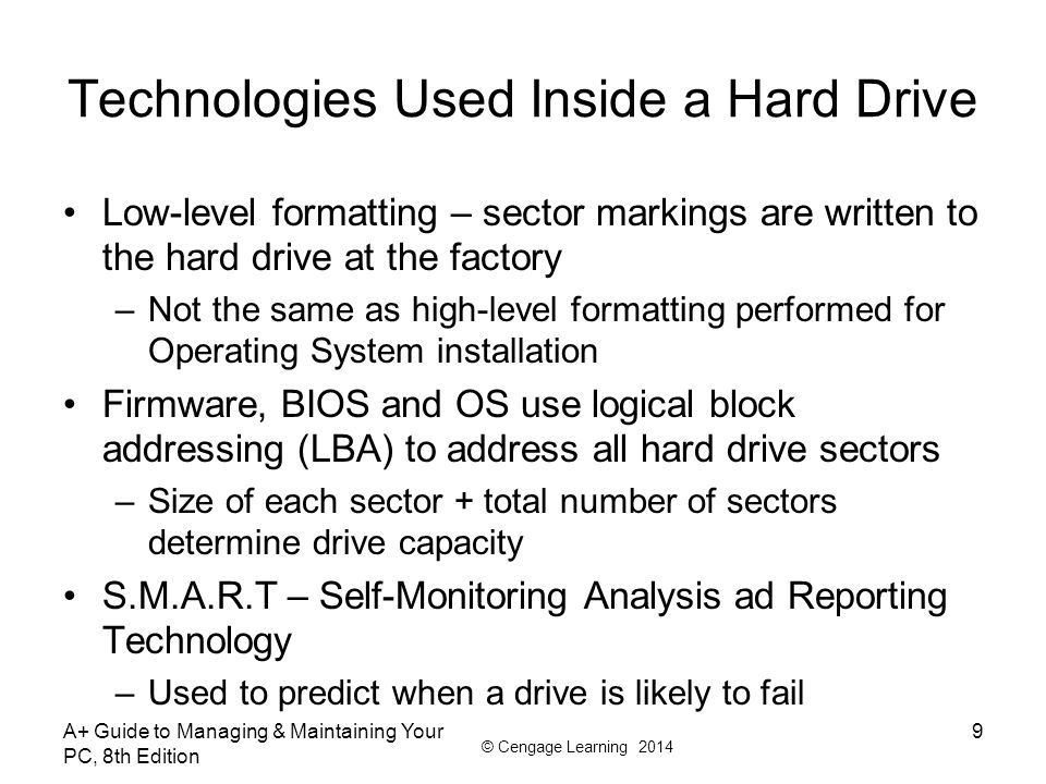 Technologies Used Inside a Hard Drive