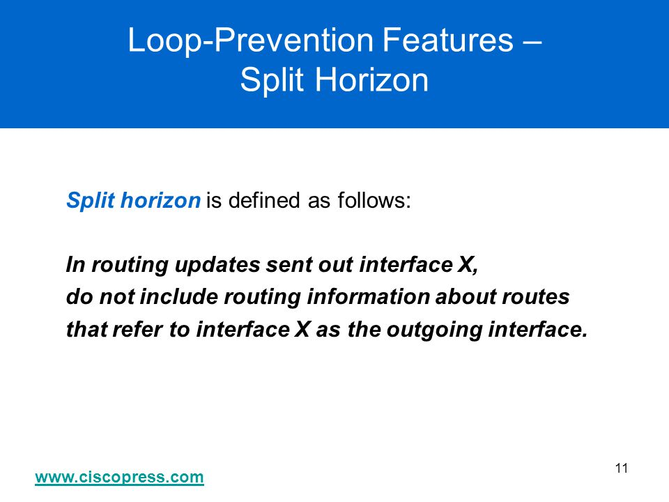 Loop-Prevention Features – Split Horizon