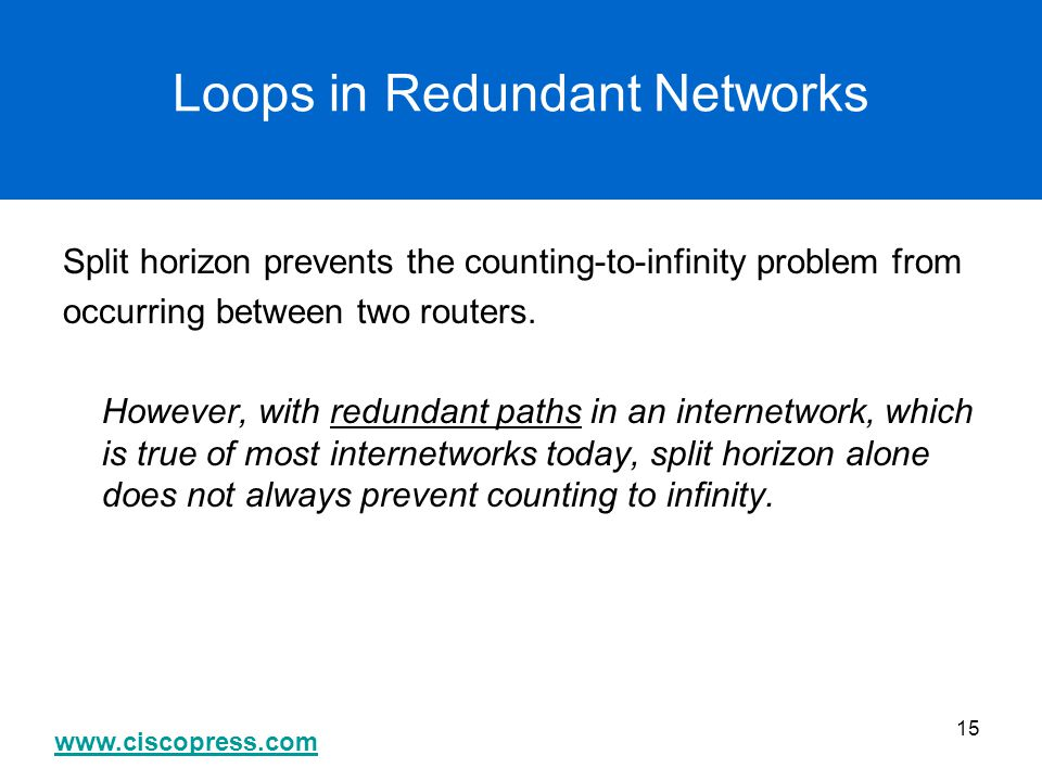 Loops in Redundant Networks