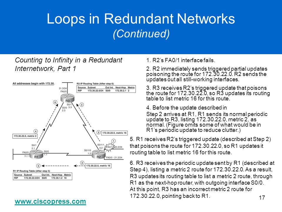 Loops in Redundant Networks (Continued)