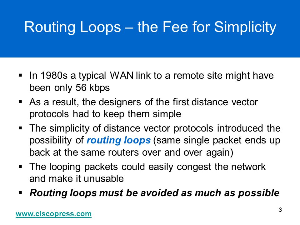 Routing Loops – the Fee for Simplicity