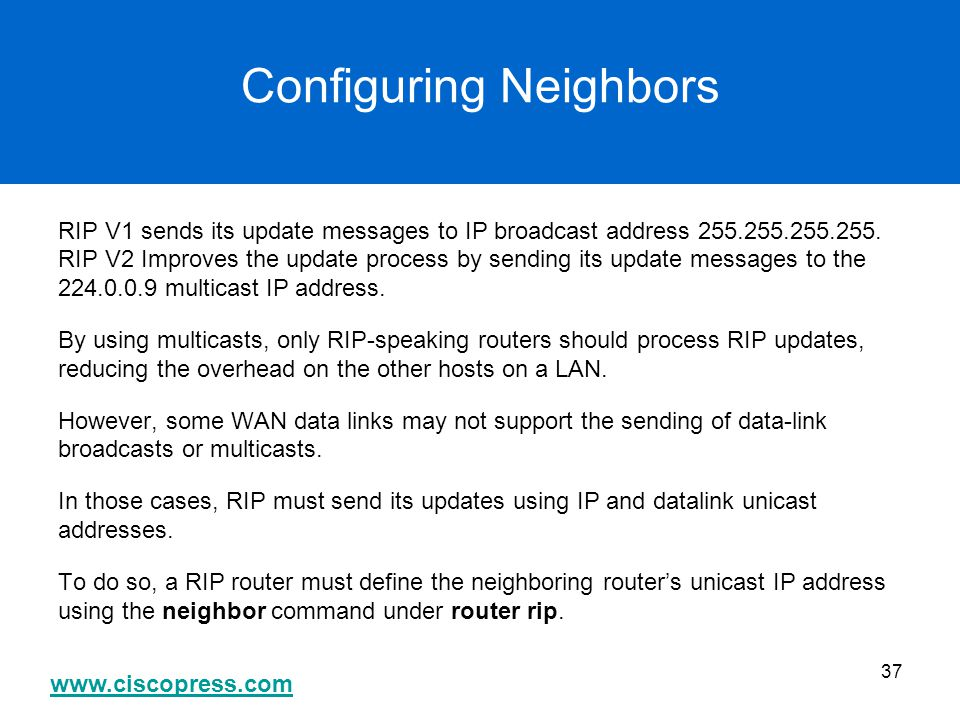 Configuring Neighbors