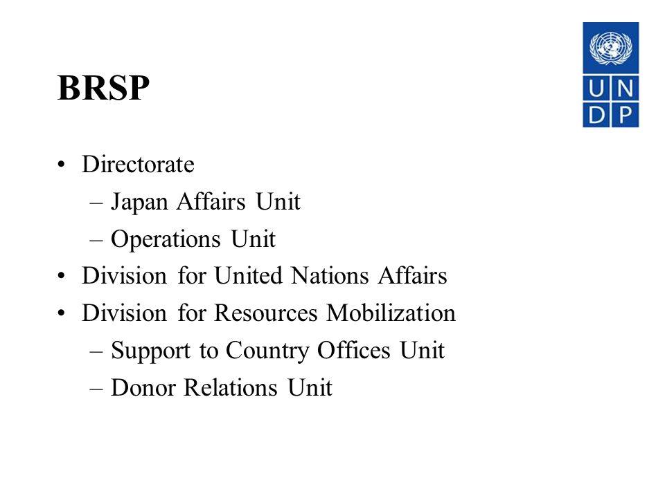 BRSP Directorate Japan Affairs Unit Operations Unit