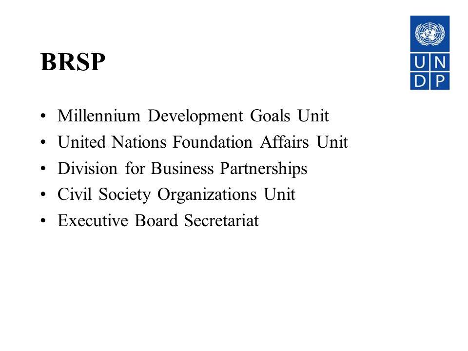 BRSP Millennium Development Goals Unit