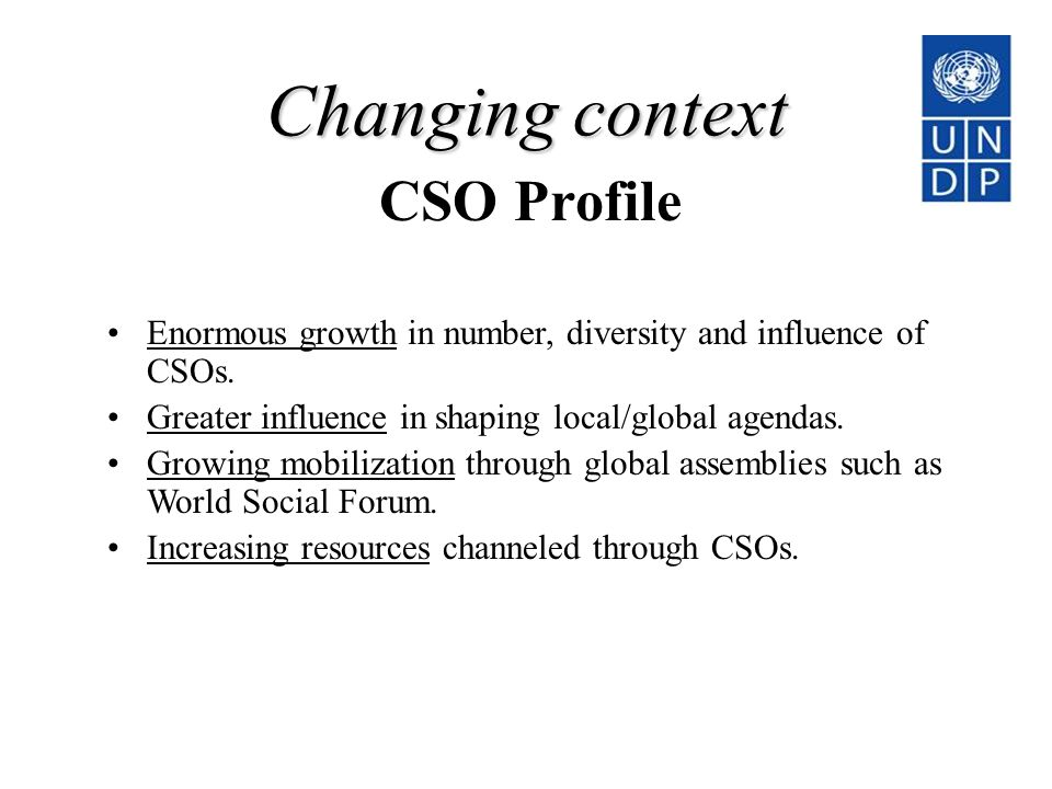 Changing context CSO Profile