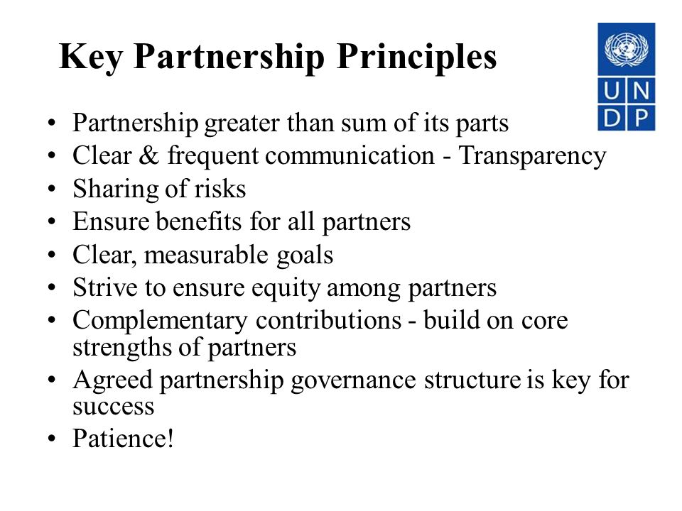 Key Partnership Principles