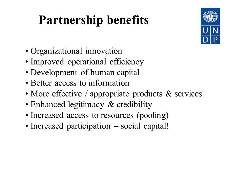 Partnership benefits Organizational innovation