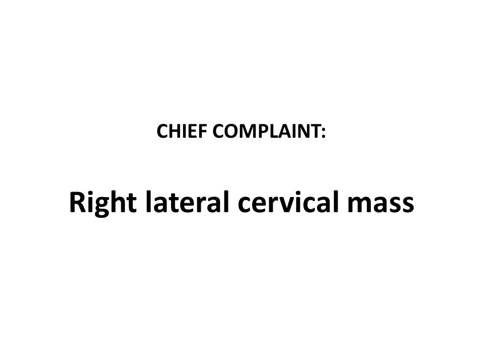Right lateral cervical mass