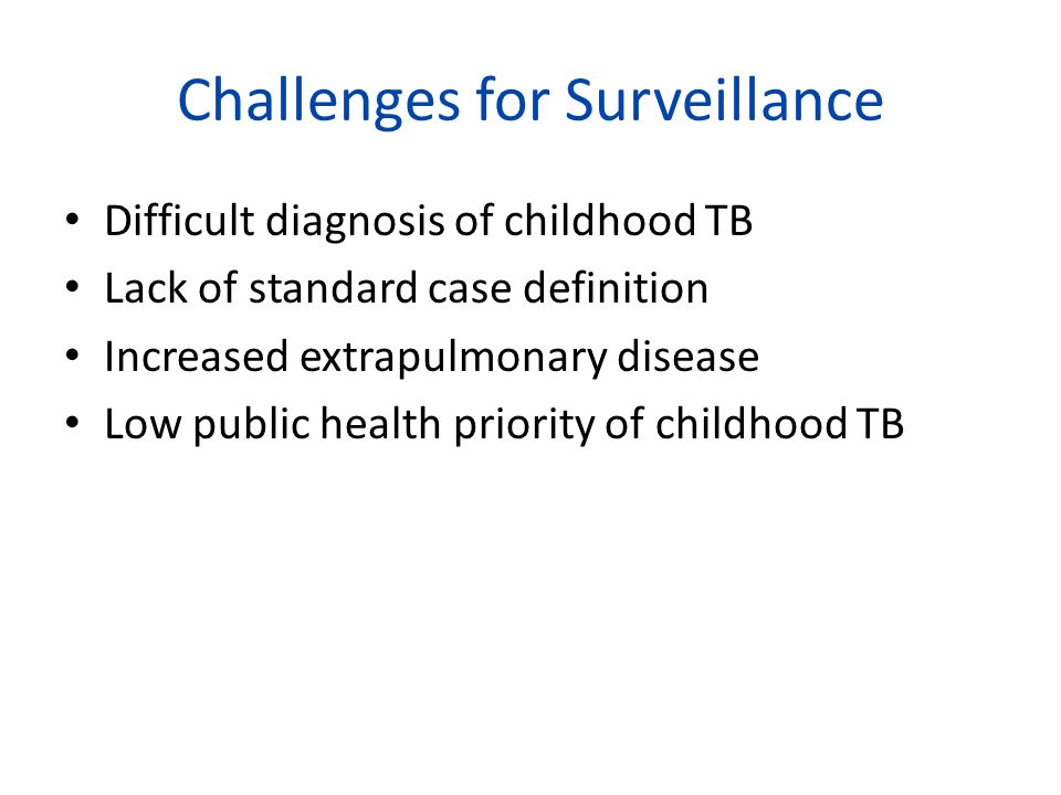 Challenges for Surveillance