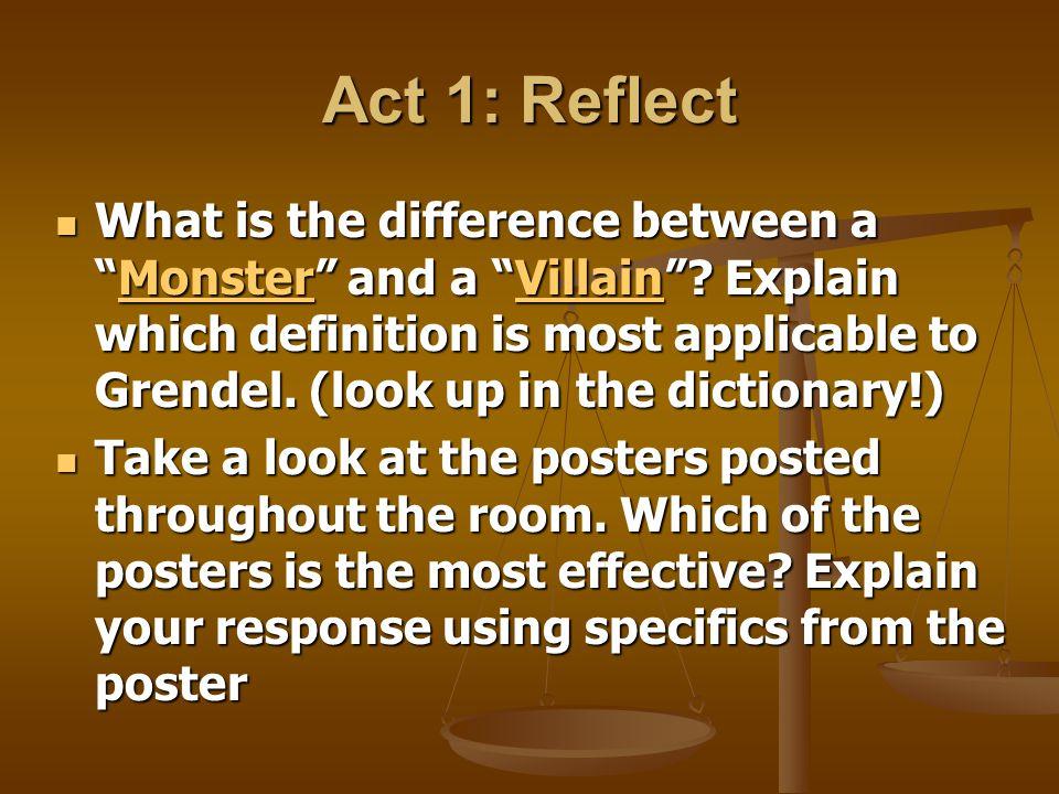 Act 1: Reflect