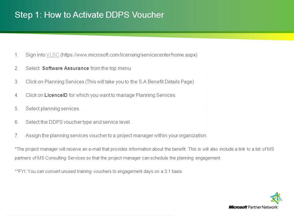 Step 1: How to Activate DDPS Voucher