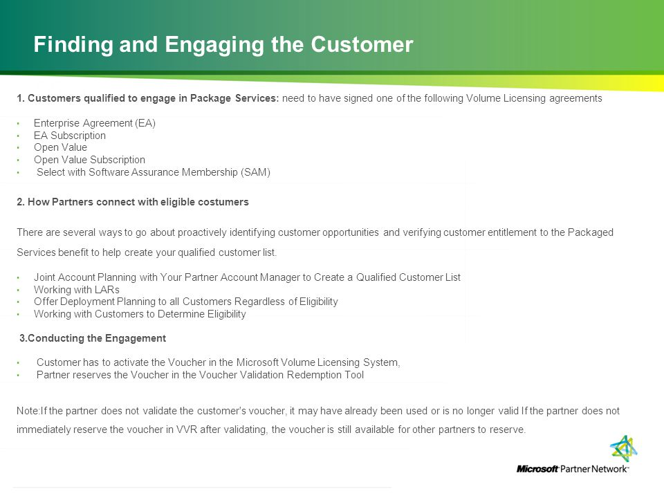 Finding and Engaging the Customer