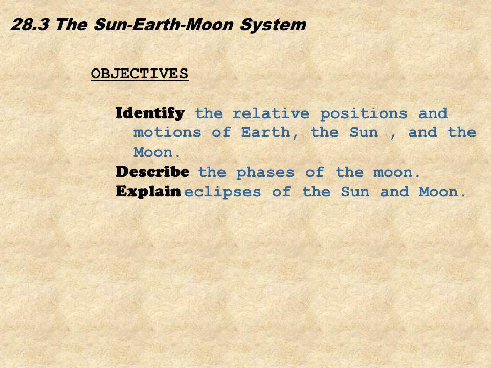 28.3 The Sun-Earth-Moon System