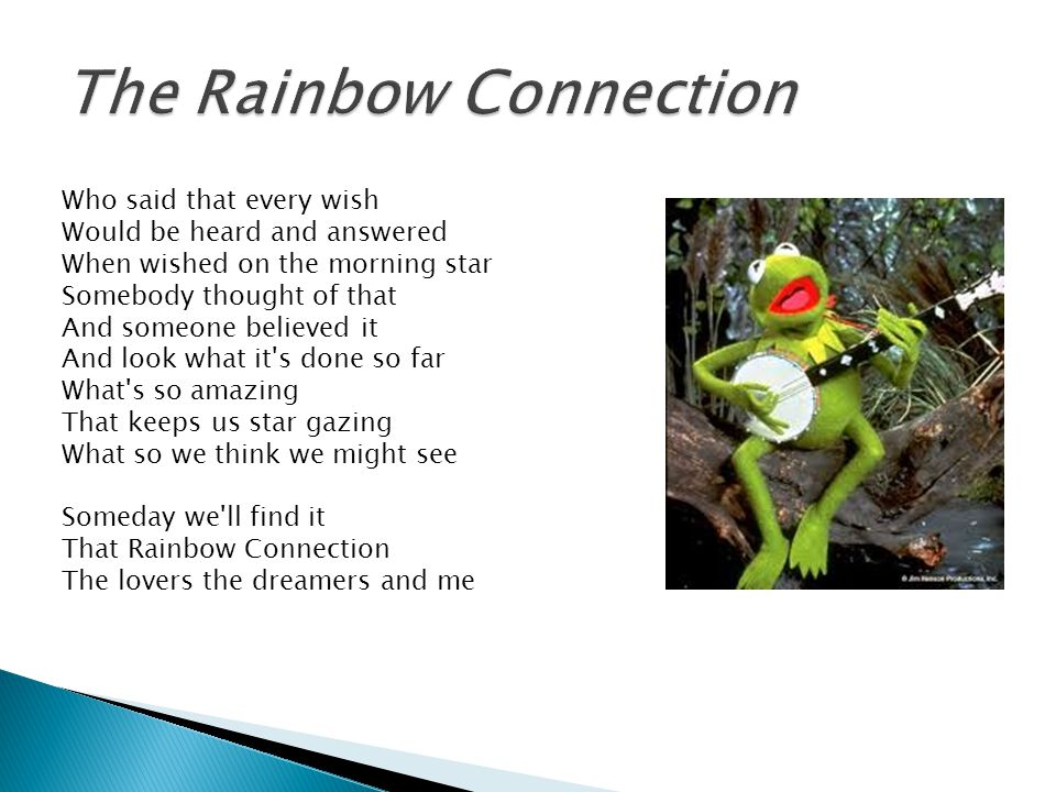 Lyric rainbow connection lyrics : Drum Line Snare auditions begin Tuesday January in the Band Room ...