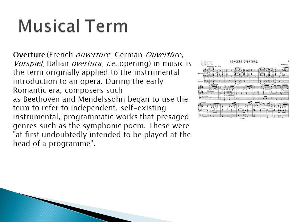 Musical Term