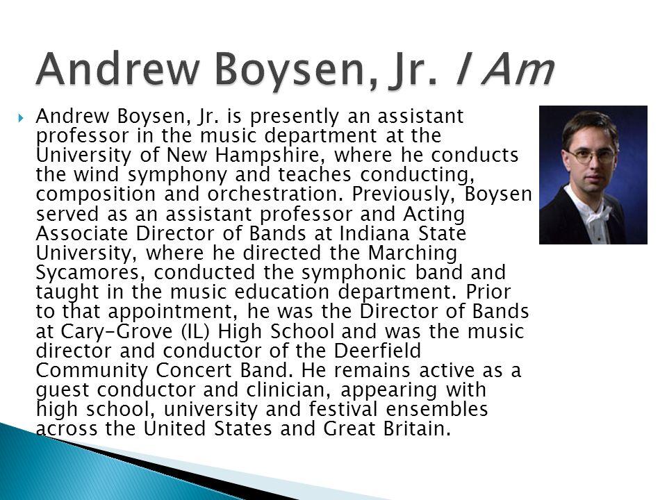 Andrew Boysen, Jr. I Am