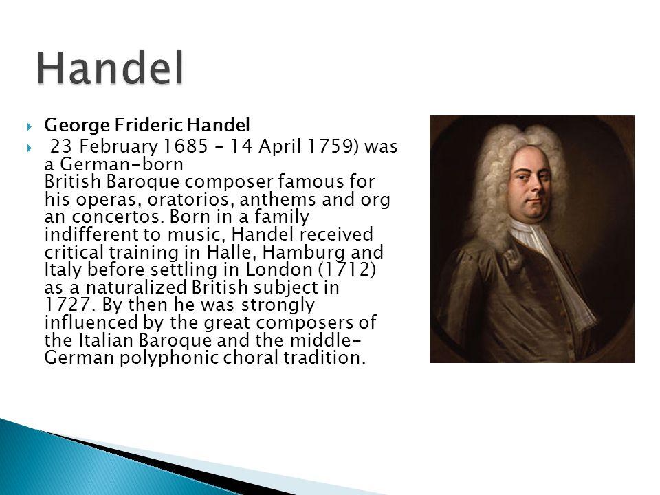 Handel George Frideric Handel