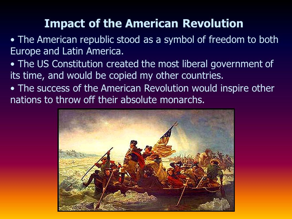 Impact of the American Revolution