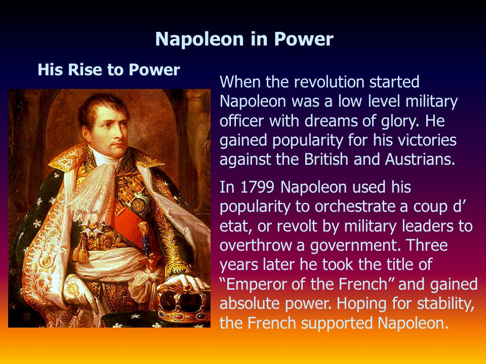 Napoleon in Power His Rise to Power