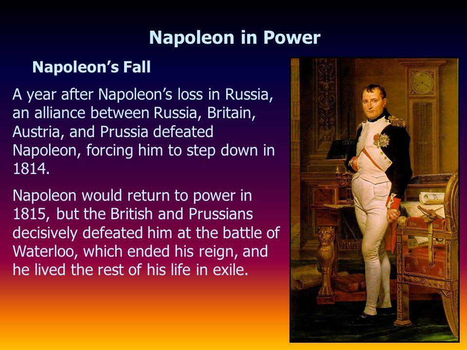 Napoleon in Power Napoleon's Fall