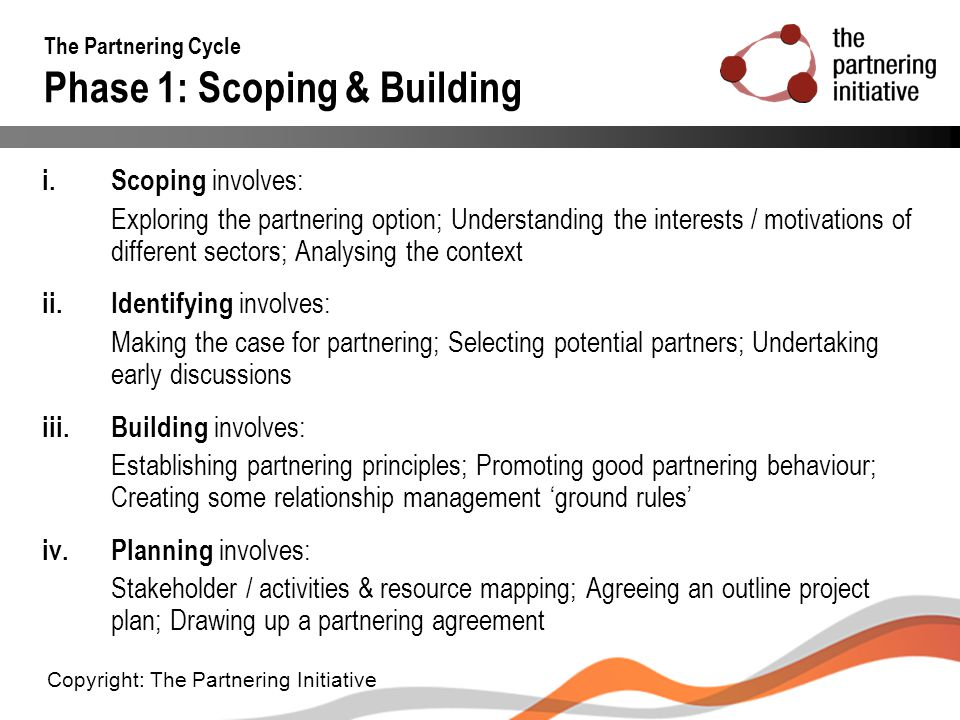 The Partnering Cycle Phase 1: Scoping & Building