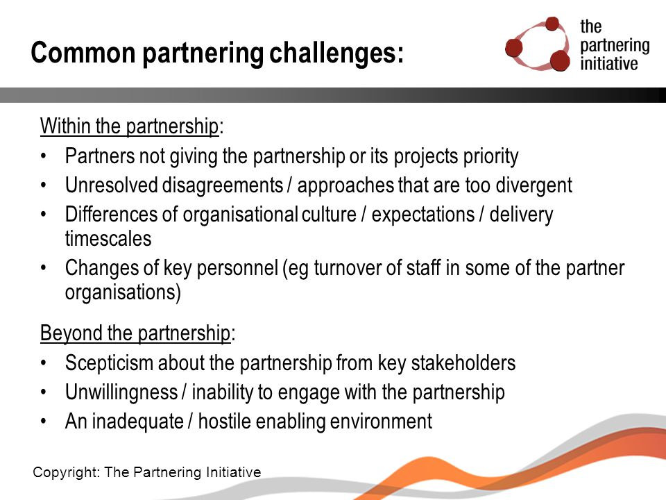 Common partnering challenges: