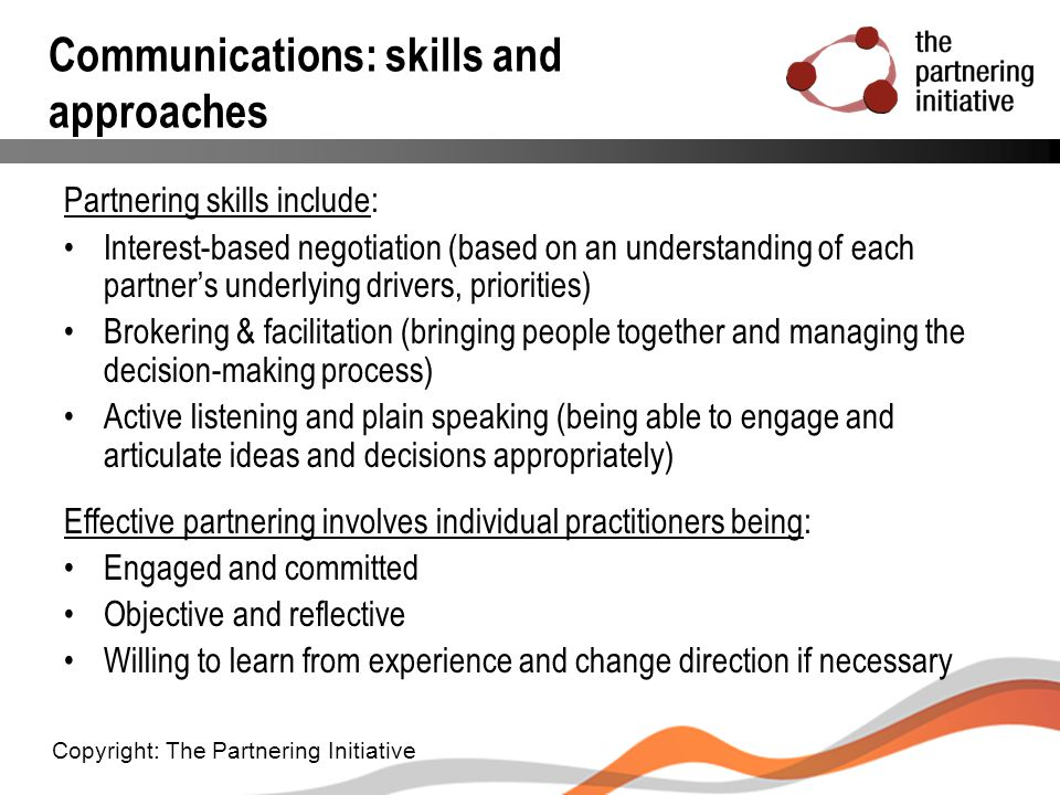 Communications: skills and approaches