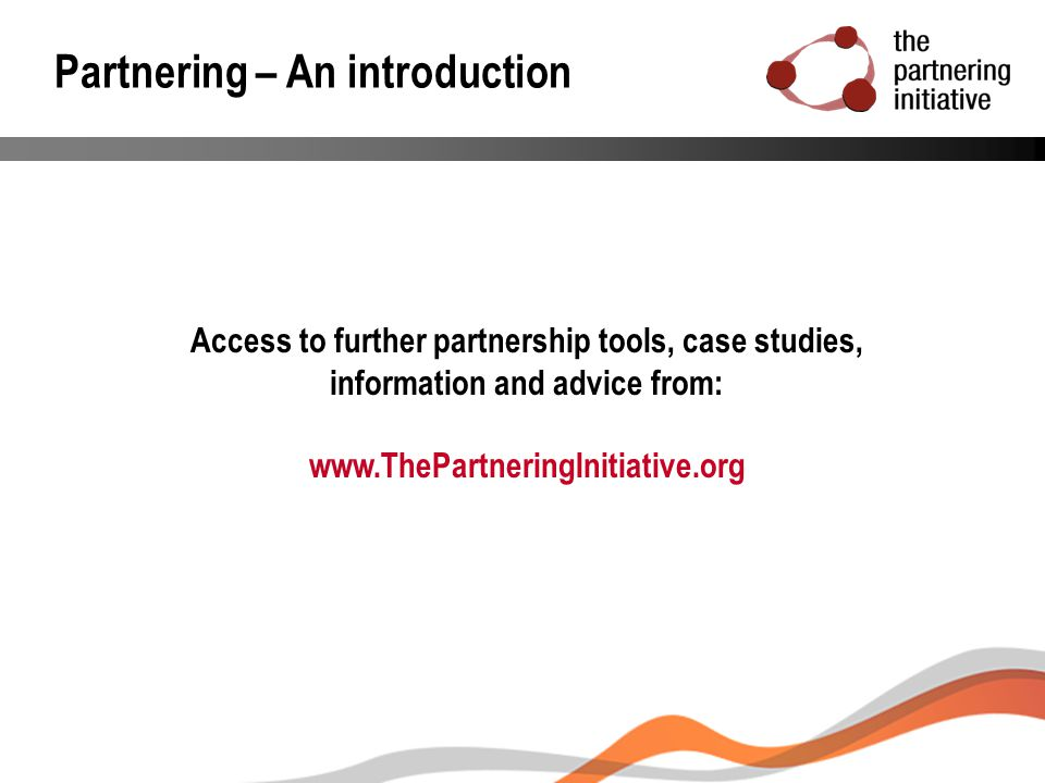 Partnering – An introduction