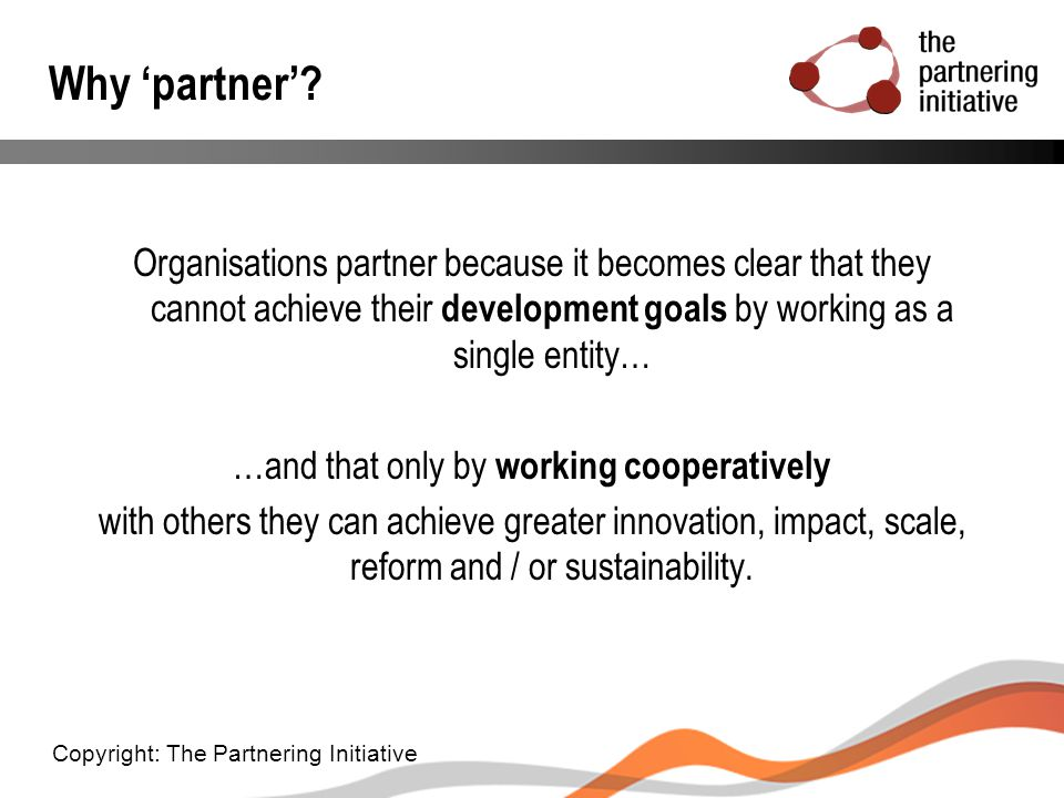 …and that only by working cooperatively