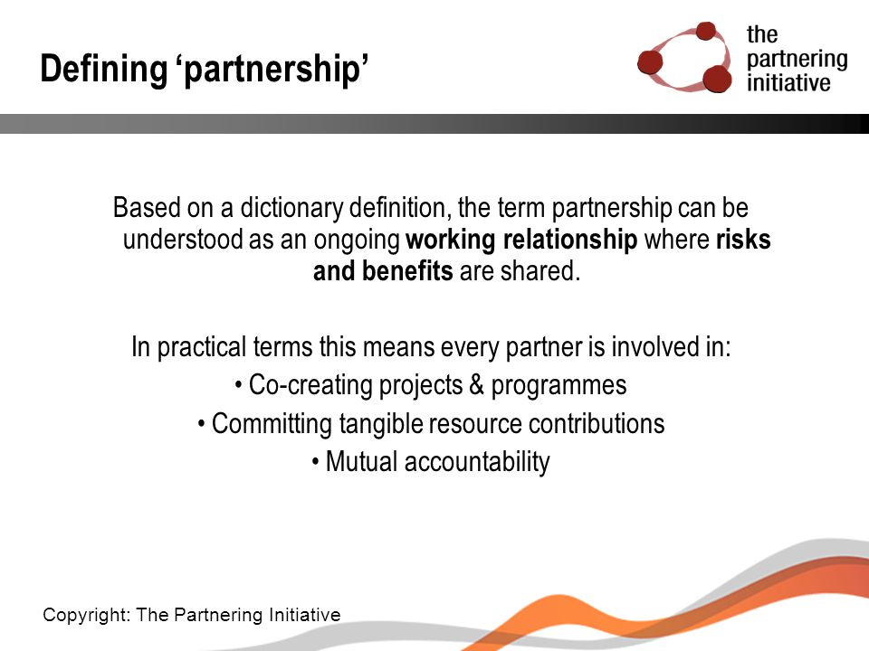 Defining 'partnership'