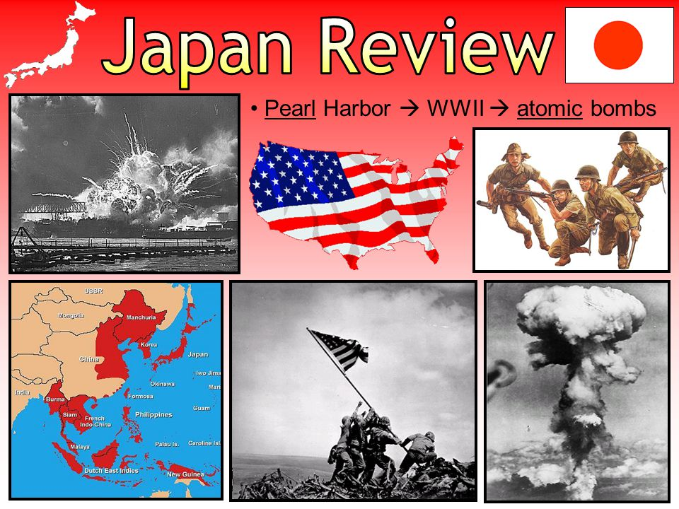 Japan Review Pearl Harbor  WWII  atomic bombs